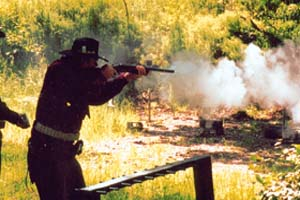 Black powder smoke